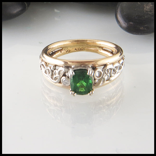 Custom Tsavorite Ring