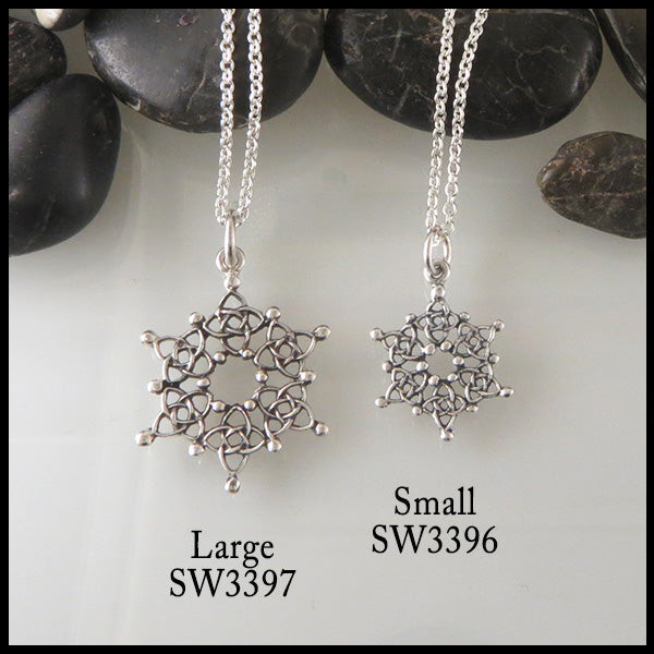 Celtic Starlight Snowflake Pendant & Earring Set
