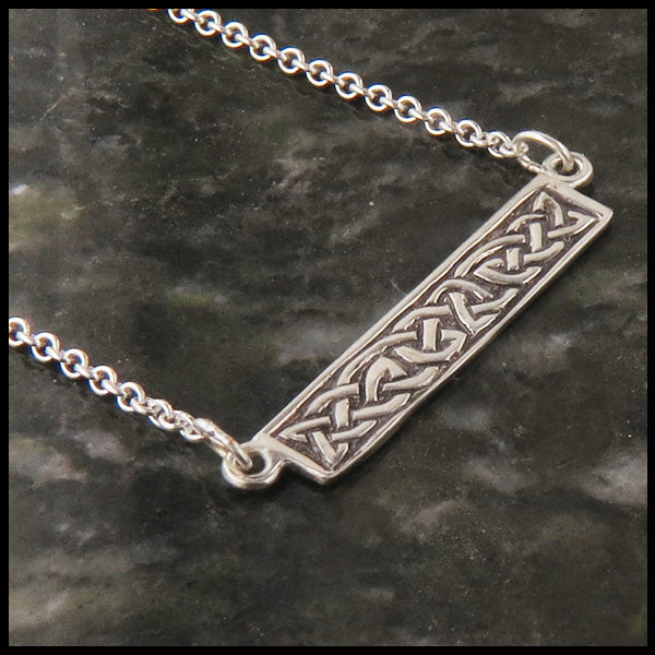 Celtic Knot bar pendant