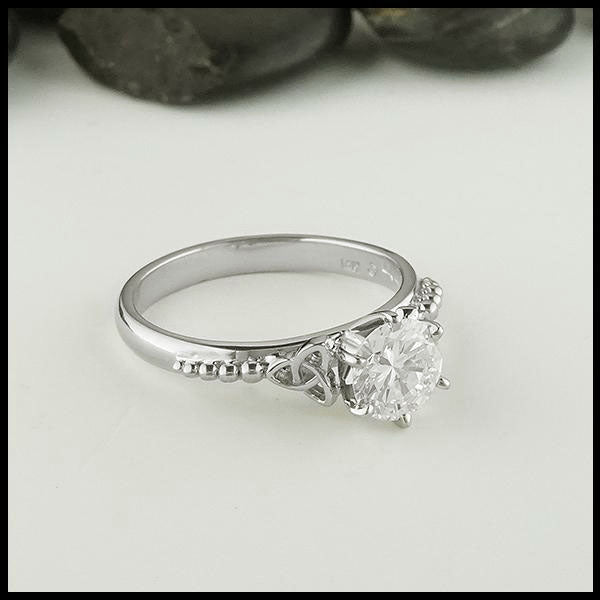 Celtic Trinity Knot Engagement Ring