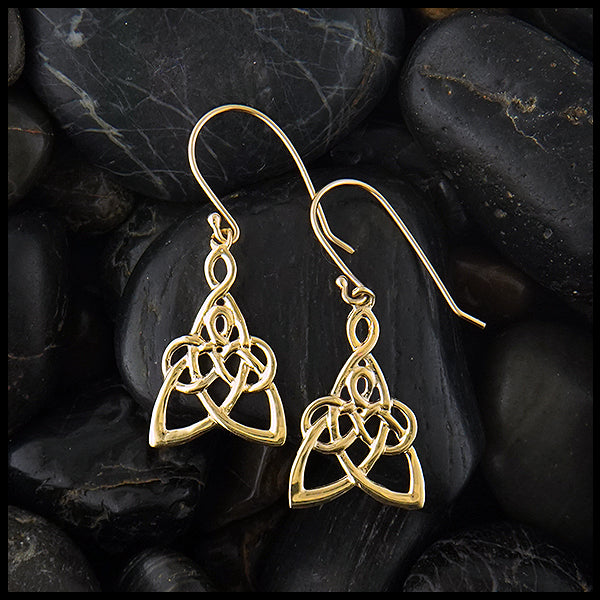 Small Mother's Knot Drop Earrings