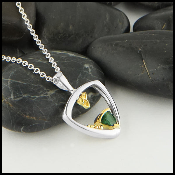 Custom Green Tourmaline Pendant