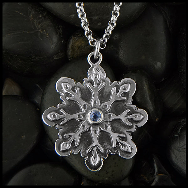 Custom Snowflake pendant by Walker Metalsmiths