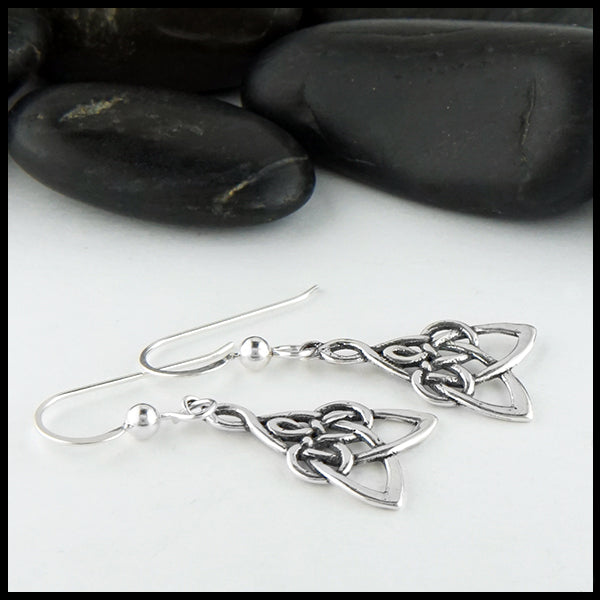 Modified Mother's Knot Drop Earrings