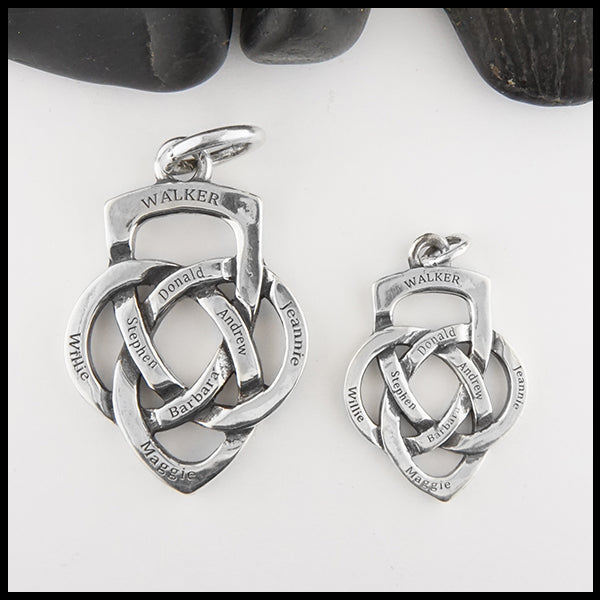 Engraved Father's Knot pendants