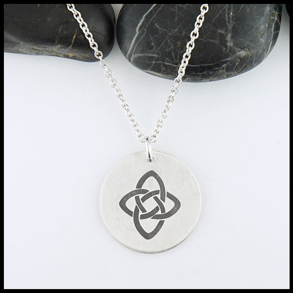 Starlight Knot Disc Pendant