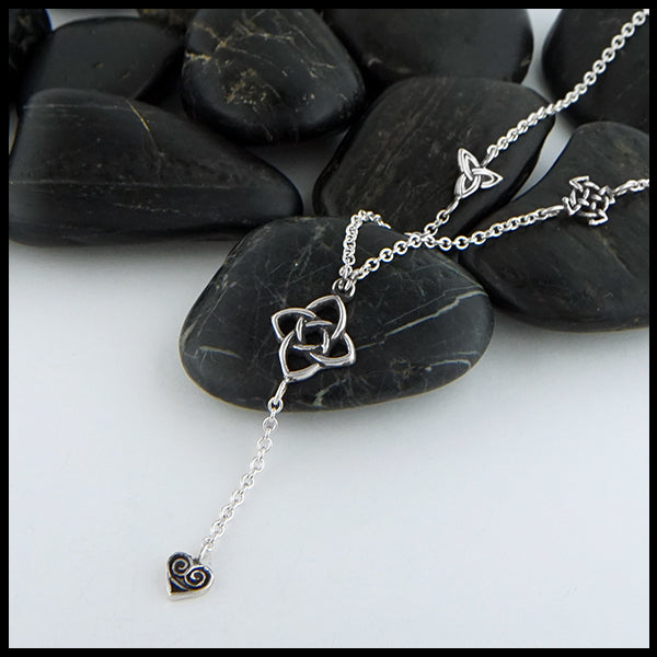 Starlight Knot Charm Necklace