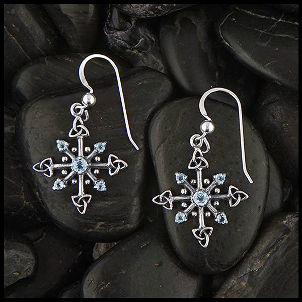 Trinity Knot Snowflake Earrings