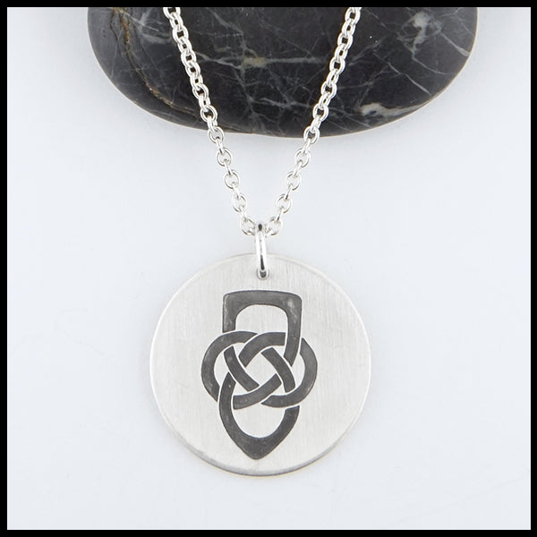 Father's Knot Disc Pendant