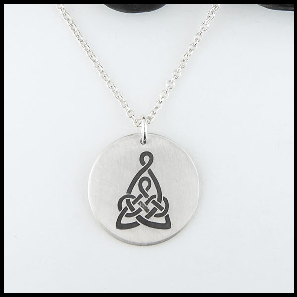 Mother's Knot Disc Pendant