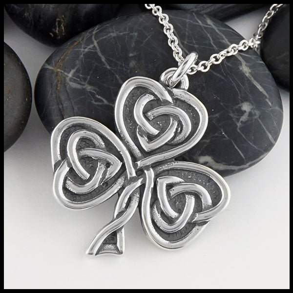 Celtic Shamrock Heart Pendant