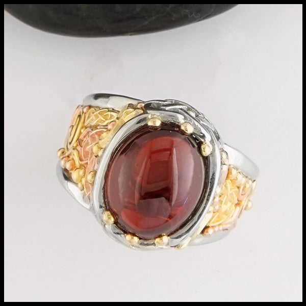 Garnet Cathedral Ring