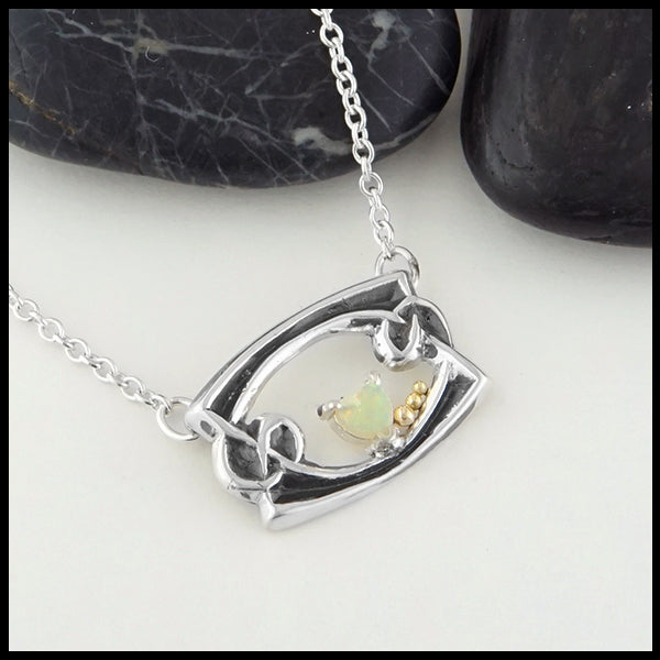 Heart Shaped Opal Necklace