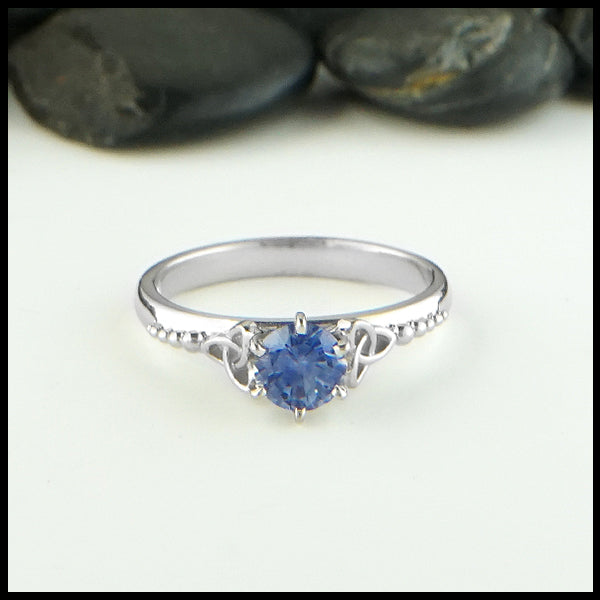 Trinity Knot Sapphire Engagement Ring