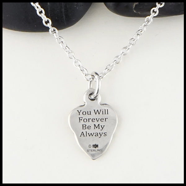"""I'll hold you in my heart."" Personalized Maggie's Heart Pendants"