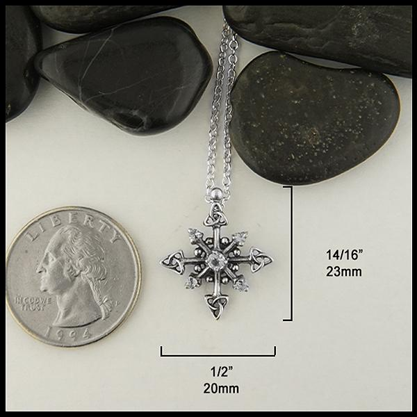 Trinity Snowflake Pendant and Earring Set
