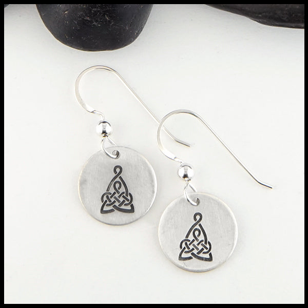 Mother's Knot Disc Earrings