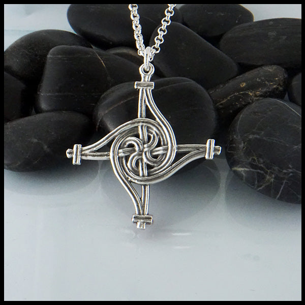 St. Brigid Sterling Silver Cross