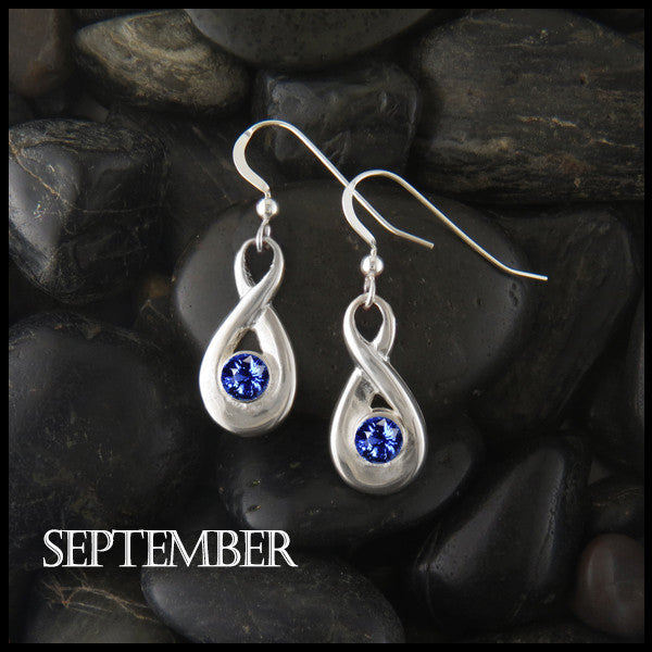 Birthstone Drop Earrings