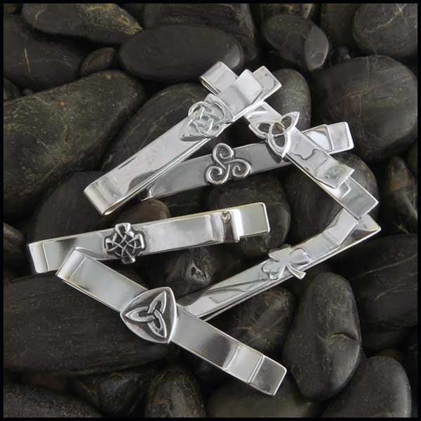 Sterling Silver Celtic Mens Tie Bars