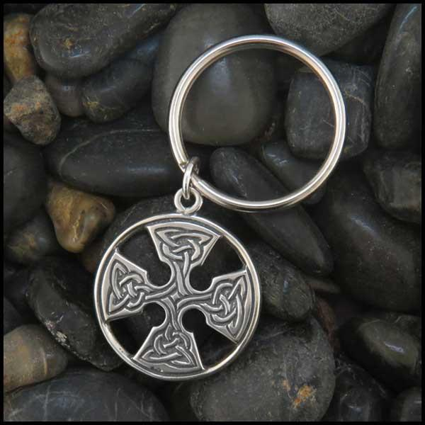 Customized Medallion Cross Key Ring