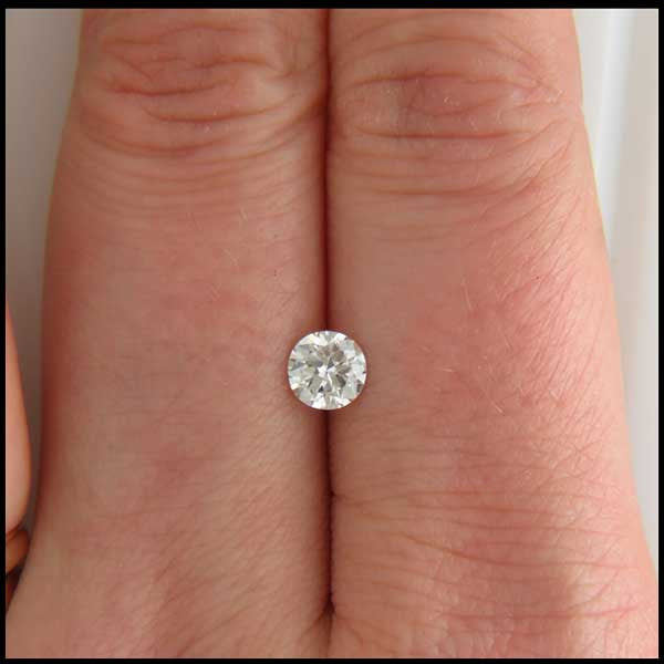 st 0.52 Old Mine Cut Round Diamond