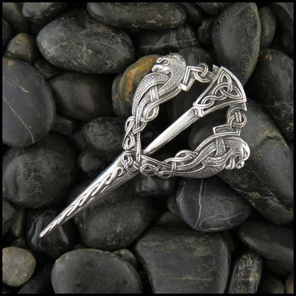 Sterling Silver, Fibula Kilt Pin, Kilt Pin, Fibula Brooch, Brooch, Hebridean, Men's Jewelry, Celtic Jewelry, Groomsman Gift, Wedding Gift