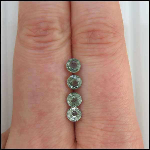 Green Sapphire Rounds