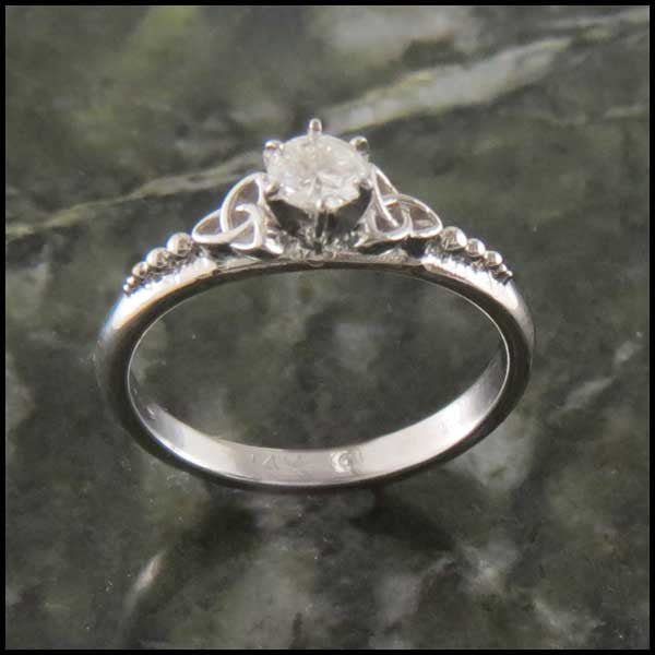 Celtic Trinity Knot Engagement Ring with Diamond