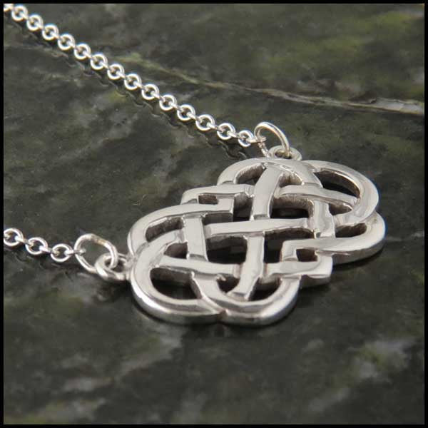 Infinite Love Celtic bar pendant in Sterling Silver