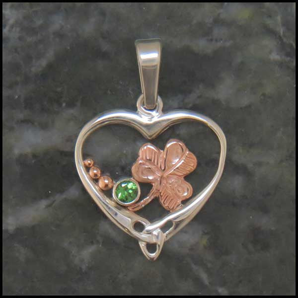 Celtic Heart pendants in Sterling Silver and Gold