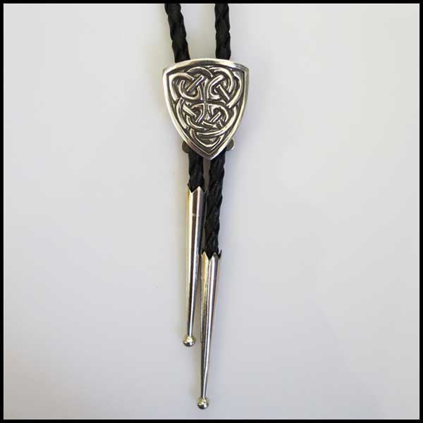 Sterling Silver and leather Bolo Tie
