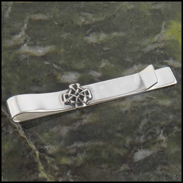 Men's Celtic Knot Jewelry Set, Cufflinks, Tie Bar or Tie Tac in Sterling Silver
