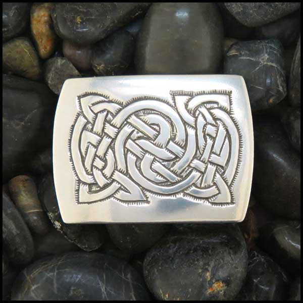 Celtic Knot Belt Buckle in Sterling Silver