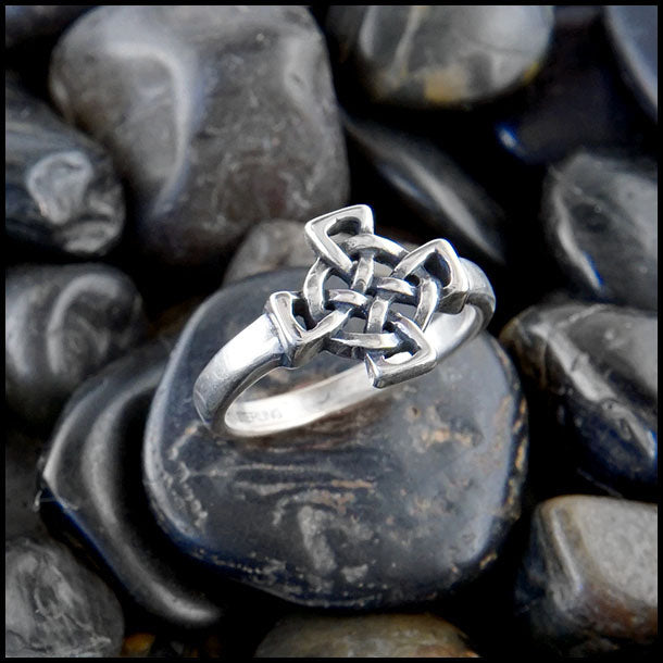 Celtic Cross knot ring