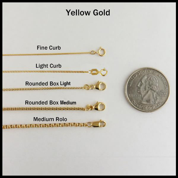 Yellow gold chain options