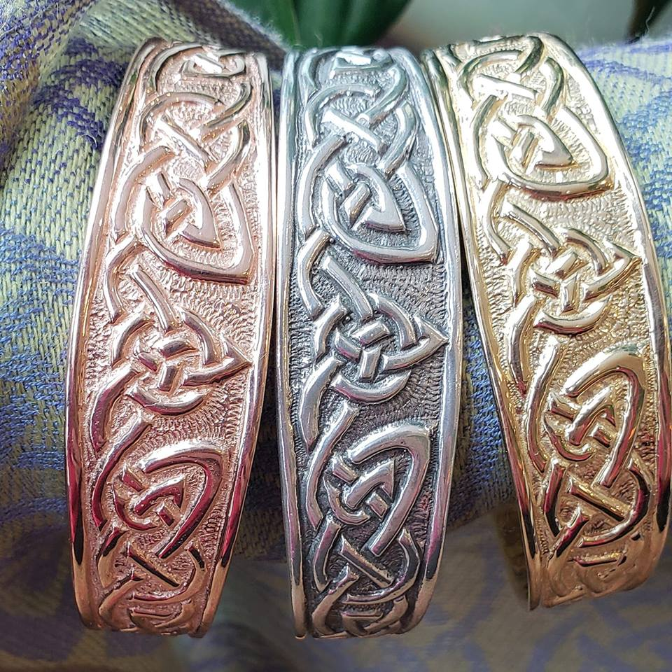Rose Gold, Silver, and Yellow Gold Cuff Bracelets