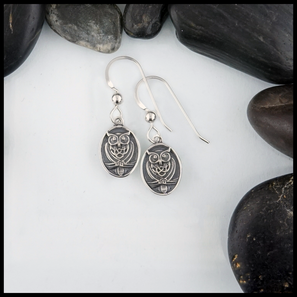The Celtic Owl Pendant is available in either small or large sizes. The owl is often seen as a symbol of wisdom and knowledge as well as a protector.