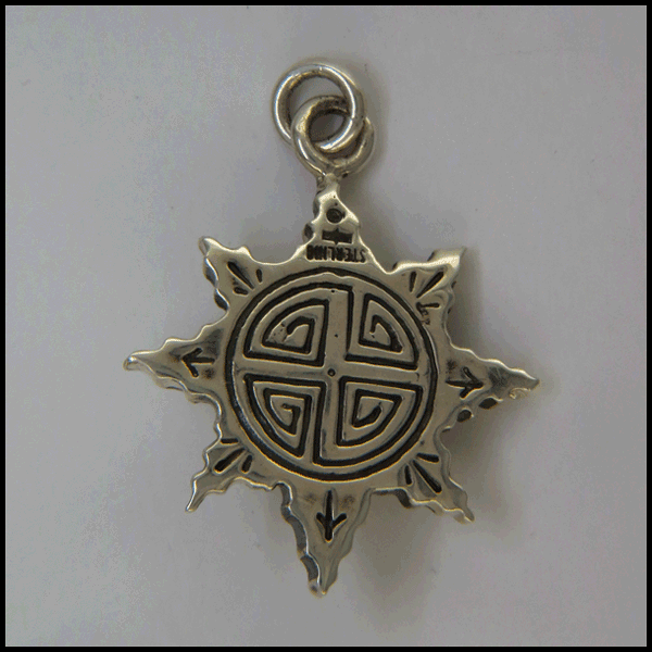 Unique Compass pendant in Sterling Silver with Gemstones