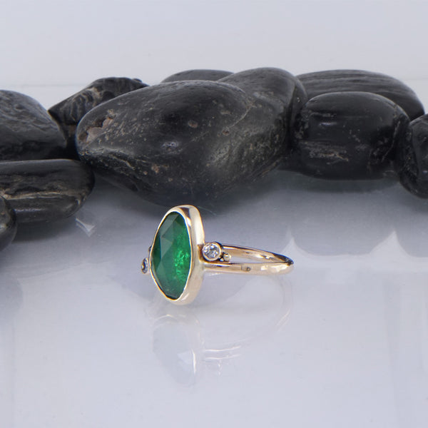 Rose Cut Tsavorite Ring