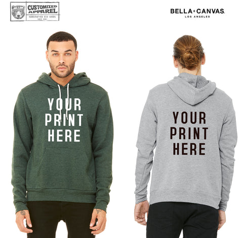 Unisex CUSTOMIZABLE Bella Canvas Crew Fleece Hoody Sweatshirt 3719