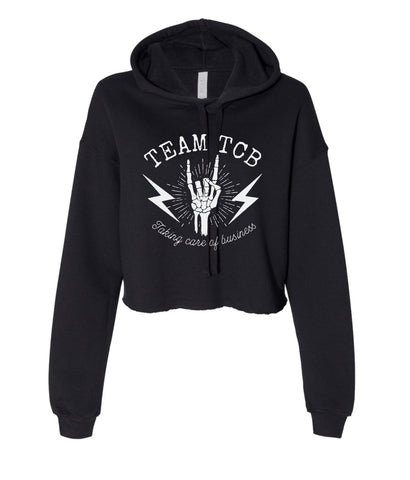 Team TCB Rock On BELLA + CANVAS - Women's Cropped Fleece Hoodie