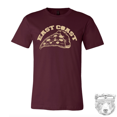Men's East Coast PIZZA T-shirt  S M L XL XXL  (++ Color Options