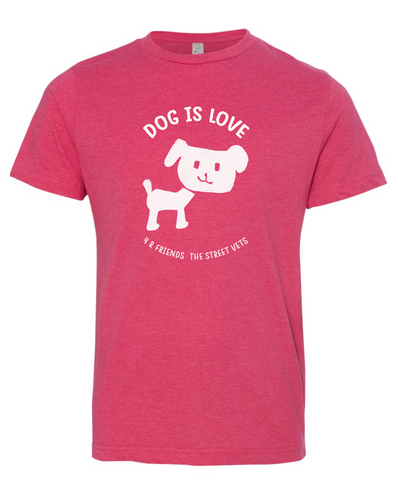 Youth & Toddler DOG IS LOVE 4 - R FRIENDS THE STREE VETS Vintage Tee