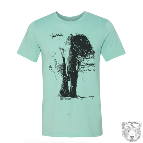 Men's ELEPHANT T-shirt  S M L XL XXL  (++ Color Options) - Zen Threads