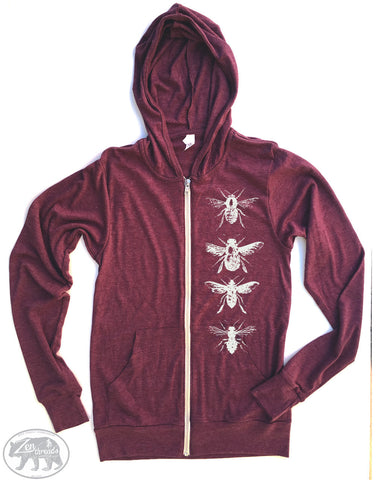 Unisex BEES Eco Zip Lightweight Hoody -  xs s m l xl (+ Colors)