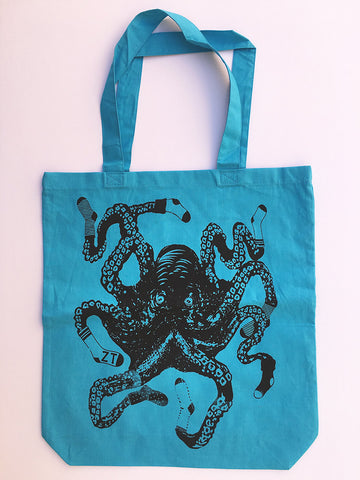 SOCKTOPUS Eco-Friendly Market Tote Bag - Hand Screen printed - Zen Threads