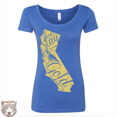 Women's CALIFORNIA State Triblend Scoop Neck Tee - T Shirt S M L XL XXL (+ Colors)