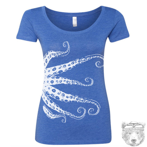 Women's OCTOPUS Scoop Neck Tee  - T Shirt S M L XL XXL (+ Colors)