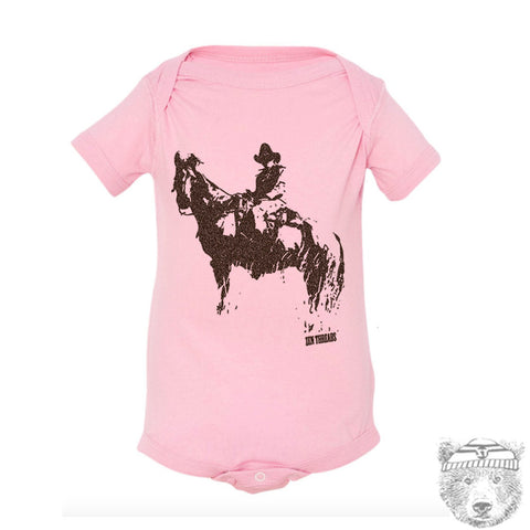 Baby One-Piece COWBOY Eco screen printed - Zen Threads